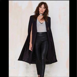 Black cape blazer one of a kind piece!